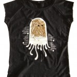 Modisches Raglan T-Shirt, schwarz meliert